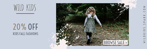 Blue With Photo Kids Fashion Sale Banner Ads Banner