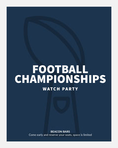 Blue and White Football Watch Party Ad Instagram Portrait Football