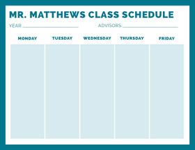 MR. MATTHEWS  CLASS SCHEDULE