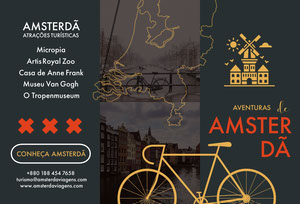 Amsterdam tourist attractions travel brochures  Panfleto