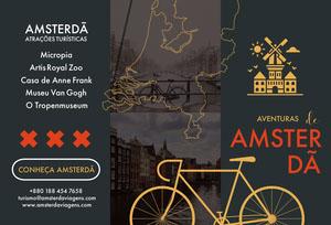 Amsterdam tourist attractions travel brochures  Folheto dobrável