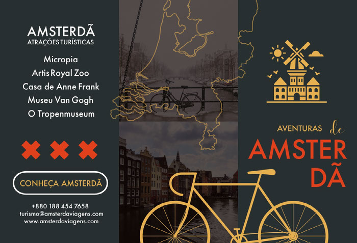 Amsterdam tourist attractions travel brochures  Idées de brochures