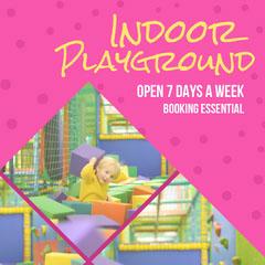 Pink & Yellow Indoor Playground Instagram Square Kids