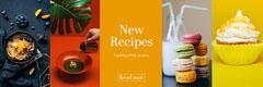 yellow orange bright new recipes cooking blog web banner Cupcake