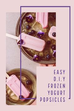 Easy D.I.Y Frozen Yogurt Popsicles Pinterest