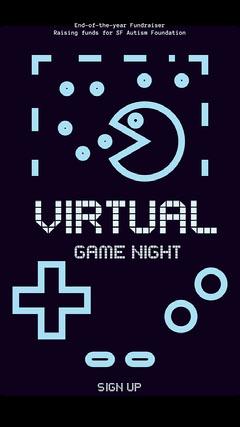 dark blue virtual game night instagram story Game Night Flyer