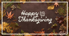 Happy Thanksgiving Leaves & Foliage Facebook Post  Thanksgiving