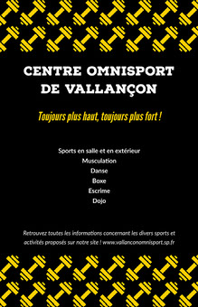 Yellow Black Gym Poster Affiche