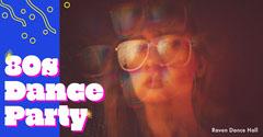 Retro Dance Party Facebook Post Graphic Dance Flyers