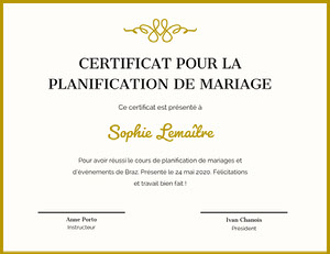 Sophie Lemaître Certificat