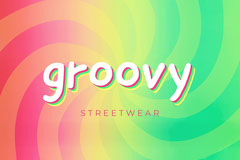 Colorful Groovy Streetwear Clothing Social Post Clothing