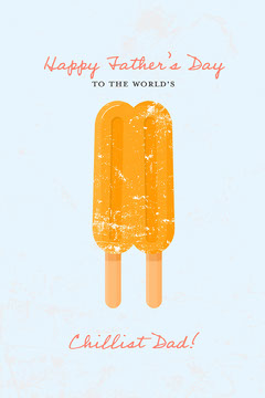 orange blue black happy Father's Day to the chilliest dad card Ice Cream Social Flyer