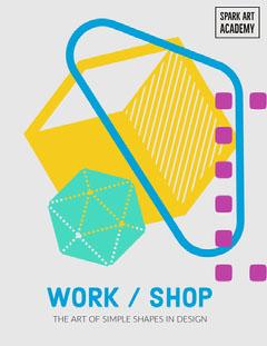 Colorful Geometric Shape Graphic Design Workshop Book Cover Art