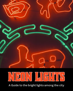 Red Neon Lights Travel Book Cover Travel