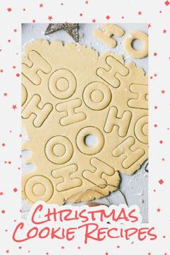 Red & Grey Christmas Cookies Pinterest Post  Stars