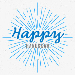 Blue Happy Hanukkah Instagram Square Hannukkah