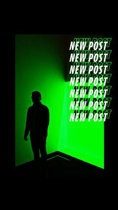 green neon new post Instagram story Neon