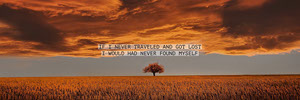 Yellow and Grey Landscape Travel Quote Twitter Header Twitter Header