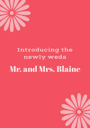 Mr. and Mrs. Blaine Anuncio de boda