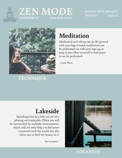 Zen Mode Newsletter Lake