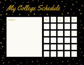 My College Schedule  Study Helpers