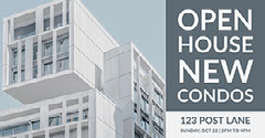 Grey Light Toned Open House Event Facebook Banner Ad Event Banner