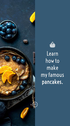 Blue Orange How To Make Pancakes Cooking Instagram Story  Cooking