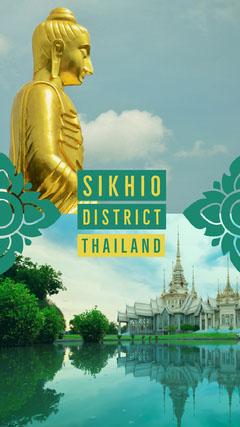 Blue and Green Thailand Social Post Lake