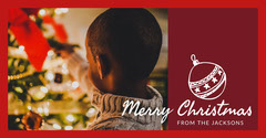 Red and Warm Toned Chrismas Wishes Facebook Banner Christmas