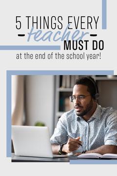Blue and Black Every Teacher Must Do Pinterest Post Teacher