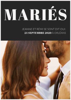 we did wedding announcements  Faire-part d'annonce de mariage