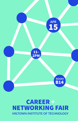 Blue Graph Networking Event Flyer Eventplakat