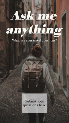 Colourful Travel Photo q&a instagram story  Adventure