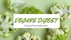 Green and White Vegans Digest Banner Vegan