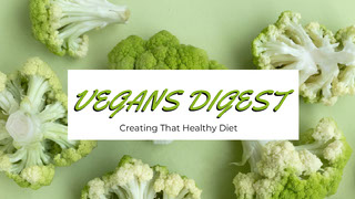 Green and White Vegans Digest Banner Youtube 橫幅