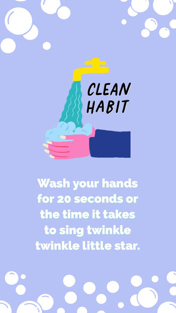 wash your hands instagram story COVID-19