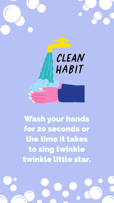 "wash your hands instagram story Un poster ""Lavati le mani"""