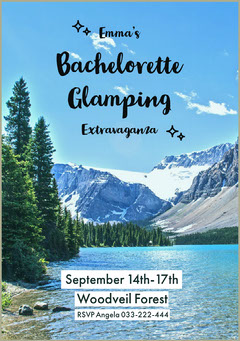 bachelorettepartyinvitation Lake