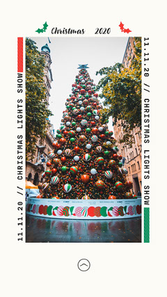 Seasonal Christmas Tree Christmas lights 2021 Instagram Story Seasonal