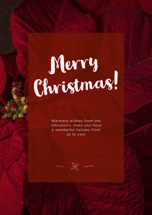 Red Merry Christmas Card Kerstkaart