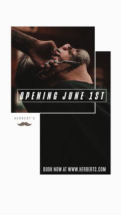 Herbert's Barber Opening Instagram Story Barber