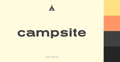 Minimalist Campsite Logo with Tent Camping