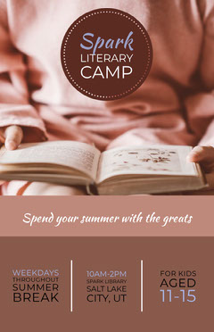 Beige and Brown Literary Camp Poster Camping