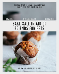 Bake Sale Instagram Portrait Donations Flyer