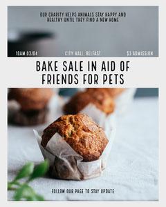 Bake Sale Instagram Portrait Sale Flyer