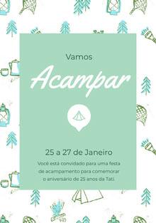 Acampar<BR> Convite
