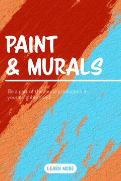 Multicolored Mural Pinterest Graphic Paint