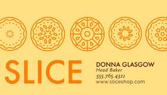 Orange Pie Themed Baker Business Card Business