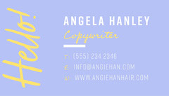 Yellow and Blue Copywriter Business Card Business