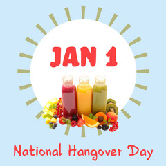 Blue National Hangover Day Instagram Square  Juice